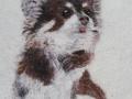 Huovutettu kuva lemmikistä 30x40 cm